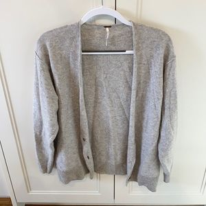 Free People Button up cashmere cardigan